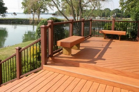 Easy DIY Wooden Deck Design For Backyard 06