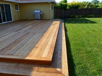 Easy DIY Wooden Deck Design For Backyard 07