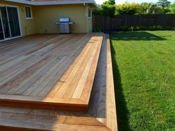 Easy DIY Wooden Deck Design For Backyard 07