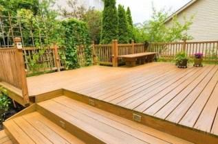 Easy DIY Wooden Deck Design For Backyard 09