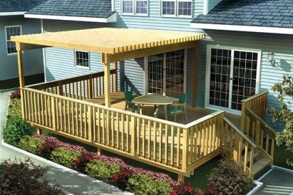 Easy DIY Wooden Deck Design For Backyard 11