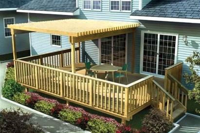 Easy DIY Wooden Deck Design For Backyard 11