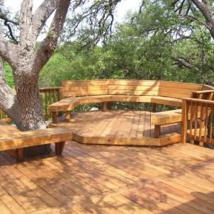Easy DIY Wooden Deck Design For Backyard 20