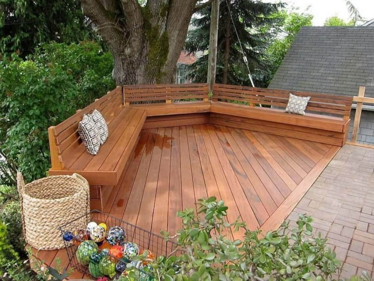 Easy DIY Wooden Deck Design For Backyard 24