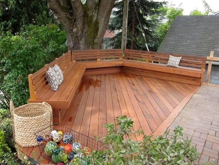 Easy DIY Wooden Deck Design For Backyard 24