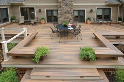Easy DIY Wooden Deck Design For Backyard 29