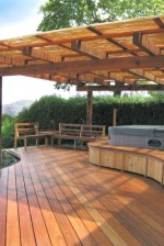Easy DIY Wooden Deck Design For Backyard 32