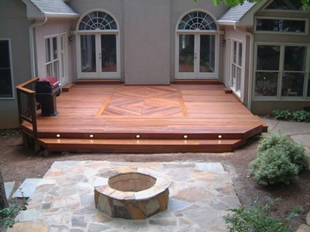 Easy DIY Wooden Deck Design For Backyard 38