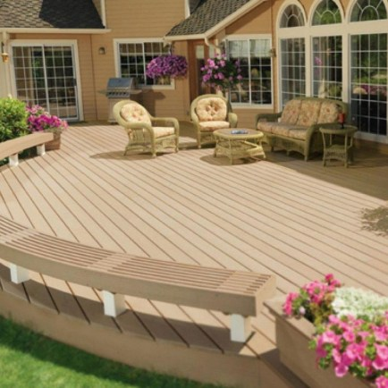 Easy DIY Wooden Deck Design For Backyard 47