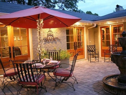 Unique Paver Terrace Design That Will Enhance Your Home Luxury Feel 15