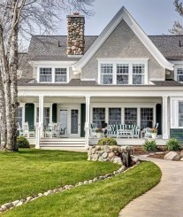 Variety of Colors Charming Exterior Design for Country Houses to Look Beautiful 09