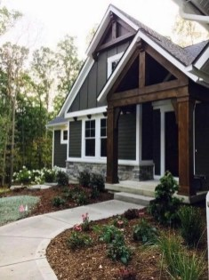 Variety of Colors Charming Exterior Design for Country Houses to Look Beautiful 29