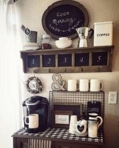 Best Coffee Bar Decorating Ideas for Your That Like a Coffee 02