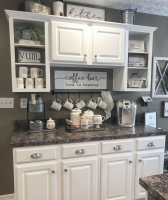 Best Coffee Bar Decorating Ideas for Your That Like a Coffee 08