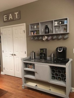 Best Coffee Bar Decorating Ideas for Your That Like a Coffee 15
