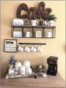 Best Coffee Bar Decorating Ideas for Your That Like a Coffee 20