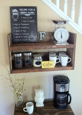 Best Coffee Bar Decorating Ideas for Your That Like a Coffee 25