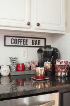 Best Coffee Bar Decorating Ideas for Your That Like a Coffee 30