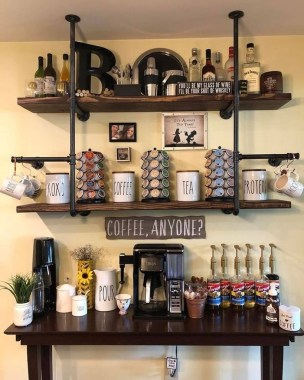 Best Coffee Bar Decorating Ideas for Your That Like a Coffee 43
