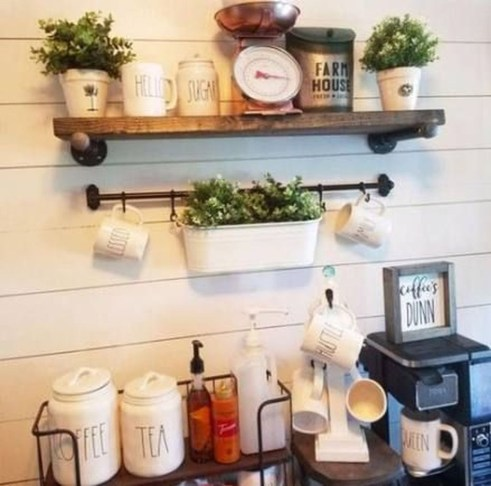 Best Coffee Bar Decorating Ideas for Your That Like a Coffee 48