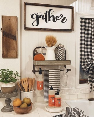 Cozy Fall Bathroom Decorating Ideasl 26