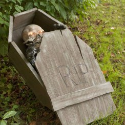 Creepy Halloween Coffin Decorations 01