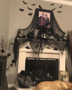 Elegant Halloween Mantel décor You Must Try In Halloween 2019 05