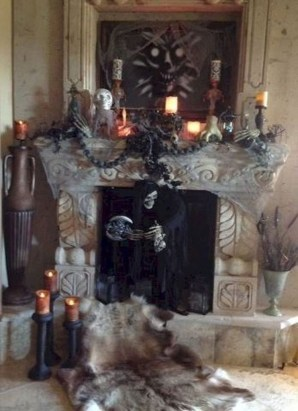 Elegant Halloween Mantel décor You Must Try In Halloween 2019 07