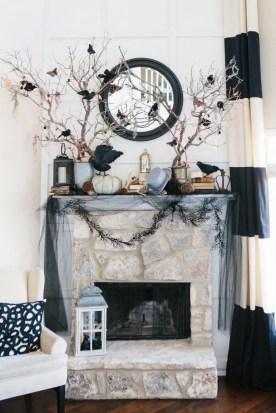 Elegant Halloween Mantel décor You Must Try In Halloween 2019 15