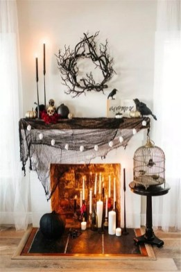 Elegant Halloween Mantel décor You Must Try In Halloween 2019 25