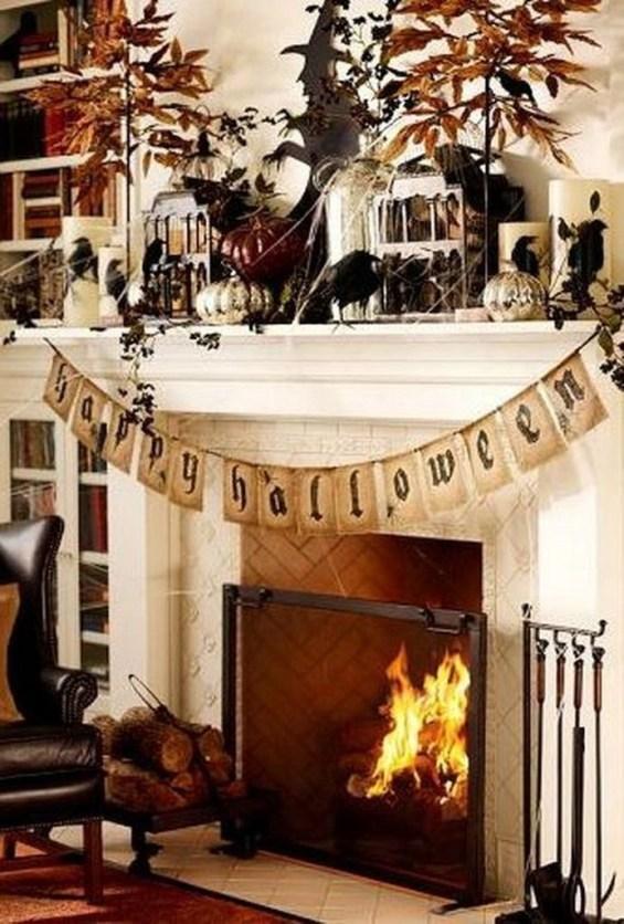 Elegant Halloween Mantel décor You Must Try In Halloween 2019 37