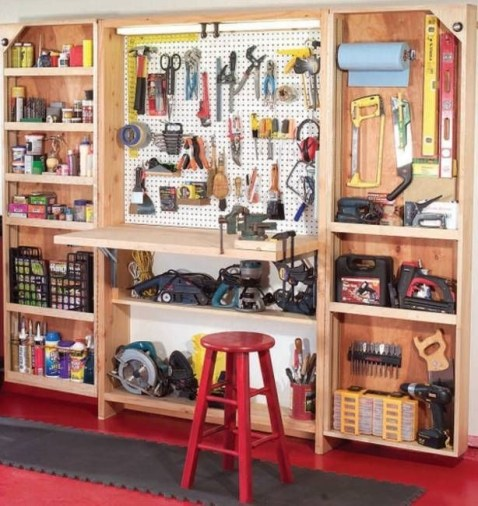 Smart and Comfortable Garage Organization for Your Small Room 26