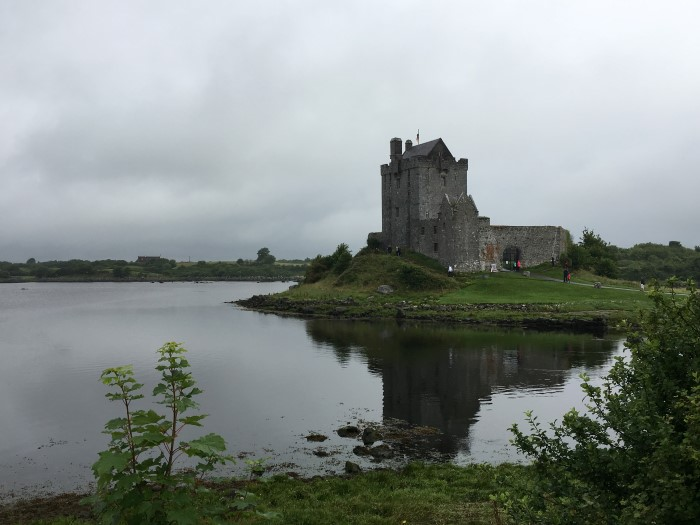 A photo of a castle along the Wild Atlantic Way in Ireland