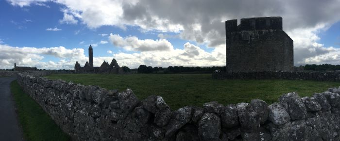 The ruins of a castle in Ireland