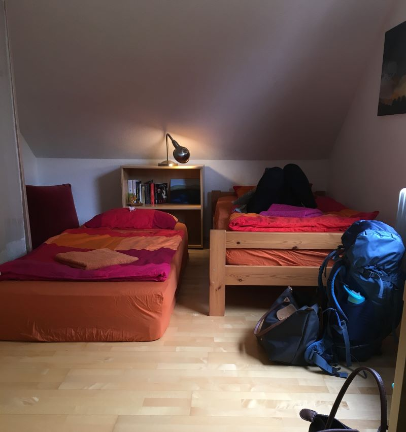 Two beds in an apartment accomodation in Freiburg