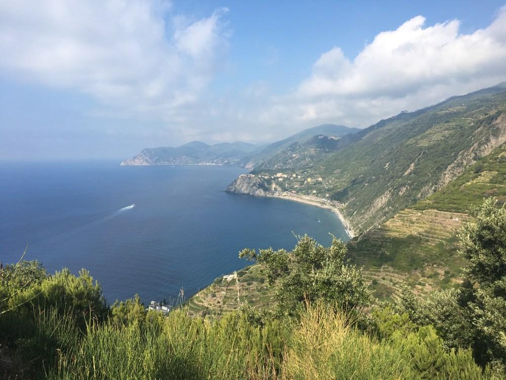 The coastline of Cinque Terre.