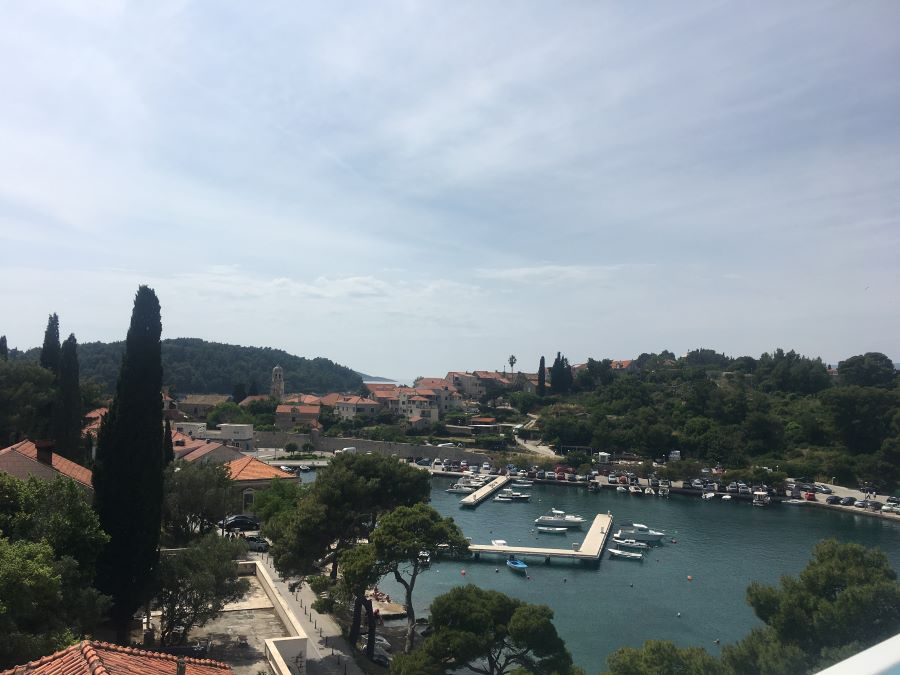 A photo of the harbor in Cavtat, Croatia