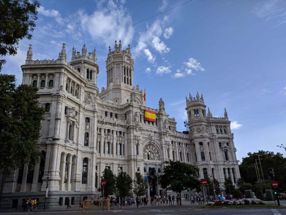 A gothic building in Madrid, which is now City Hall.