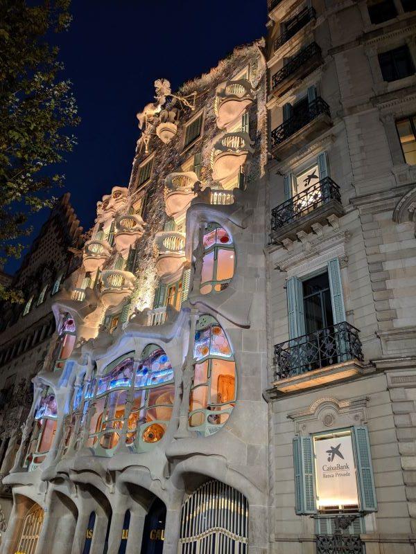 The exterior of Casa Batlló in Barcelona.