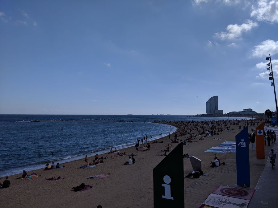 The beaches in Barcelona