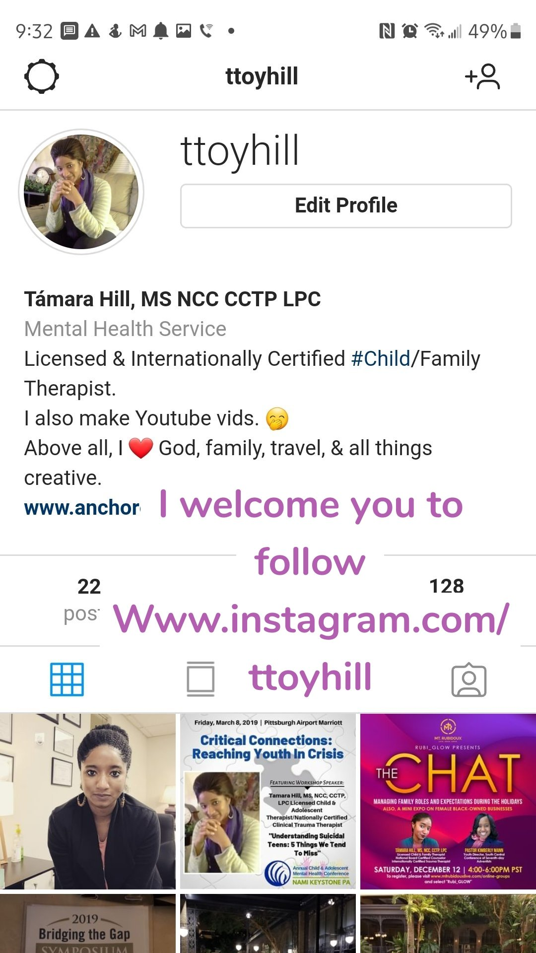 I welcome you to follow Www.instagram.com/ttoyhill