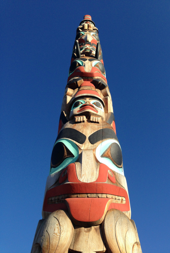 Made by Jaalen & Gwaii Edenshaw, two brothers from Haida Gwaii, the Two Brothers pole replaced the Raven pole which was repatriated back to the Haida Nation in 2011.