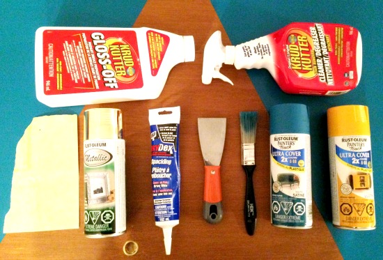 My Rust Oleum goodies & other supplies.