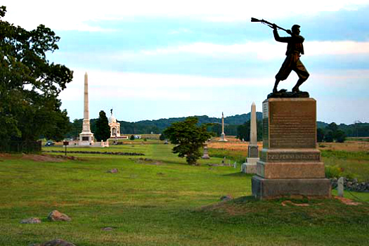 Get to better know the history and geography of America through a tour of some of its civil war battlefields.