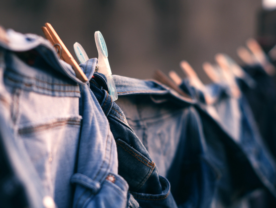 Mom Jeans hanging to dry