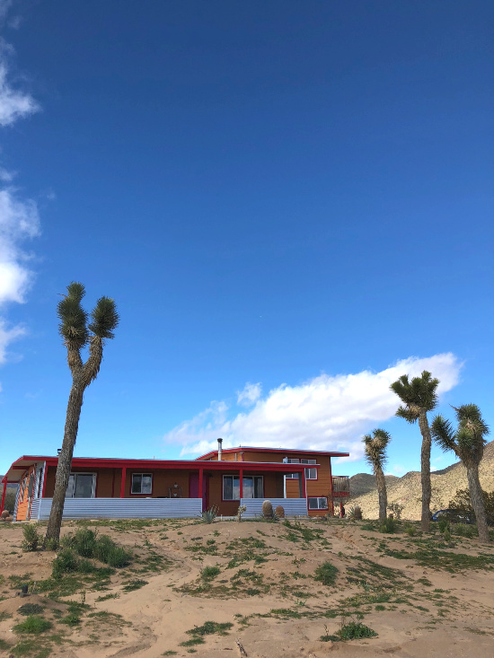 An boho disco Airbnb oasis in the Yucca Valley