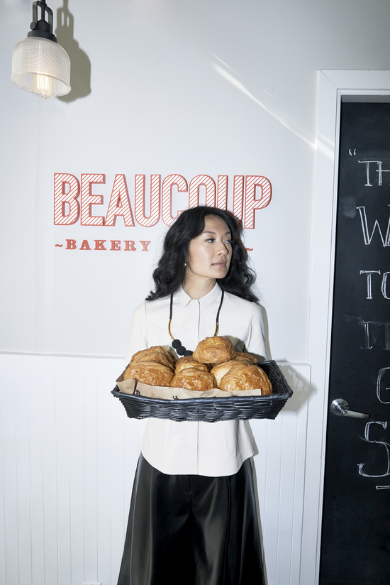 Nordstrom Vancouver Campaign: Jackie Kai Ellis shows of her Parisien cool.