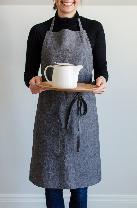For the baking, feeding, loves the kitchen mom this linen apron is perfect.
