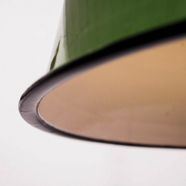 Green enamelled ceiling lamp anciellitude