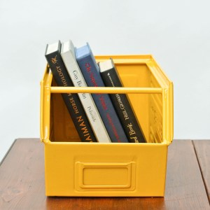 anciellitude Coloured metallic crates - yellow